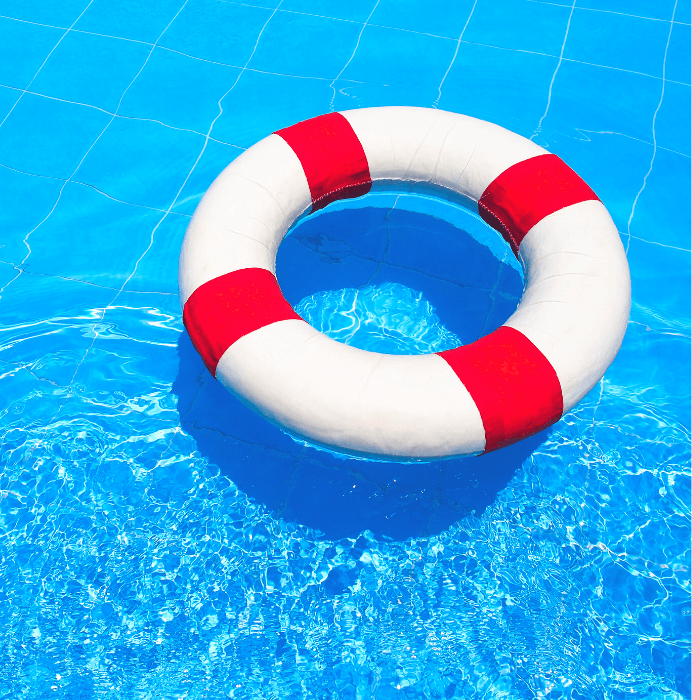Raft in Pool